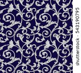 Seamless Pattern  Baroque ...