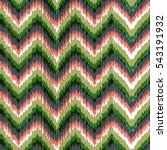 zig zag chevron tradition ikat... | Shutterstock .eps vector #543191932