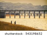 view of  piers coming out to... | Shutterstock . vector #543198652