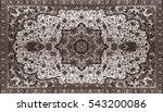 persian carpet texture ... | Shutterstock . vector #543200086