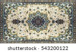 persian carpet texture ... | Shutterstock . vector #543200122
