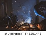 industrial worker at the... | Shutterstock . vector #543201448