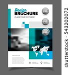 blue business brochure design... | Shutterstock .eps vector #543202072