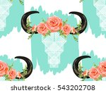 beautiful vector pattern with... | Shutterstock .eps vector #543202708