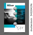 abstract business brochure... | Shutterstock .eps vector #543204196