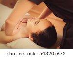 skillful beautician massaging... | Shutterstock . vector #543205672