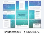 big set of vector templates for ... | Shutterstock .eps vector #543206872