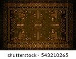 persian carpet texture ... | Shutterstock . vector #543210265