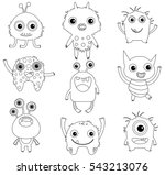 a collection of funny and cute... | Shutterstock .eps vector #543213076