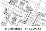 mechanical engineering drawing. ... | Shutterstock . vector #543219166