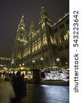 christmas market near vienna... | Shutterstock . vector #543223642