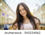 young beautiful brunette woman... | Shutterstock . vector #543224062