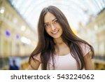 young beautiful brunette woman... | Shutterstock . vector #543224062