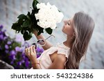 young beautiful lady with...   Shutterstock . vector #543224386