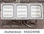 led light on ground.  | Shutterstock . vector #543224548