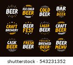 brewery set logo  label ... | Shutterstock .eps vector #543231352