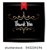 thank you card | Shutterstock .eps vector #543234196