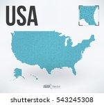 dot matrix vector united states ...   Shutterstock .eps vector #543245308