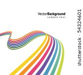 Abstract Colorful Line Vector...