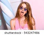 close up fashion portrait of... | Shutterstock . vector #543247486