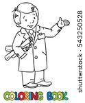 coloring picture of funny...   Shutterstock .eps vector #543250528