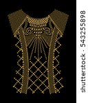 fashion apparel embellishment... | Shutterstock .eps vector #543255898