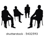 some people on the chair on the ... | Shutterstock . vector #5432593