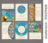set of vector design templates. ...   Shutterstock .eps vector #543259606