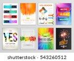abstract backgrounds set.... | Shutterstock .eps vector #543260512