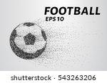 a soccer ball of particles. a... | Shutterstock .eps vector #543263206