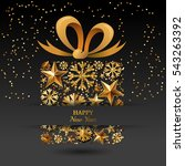 new year vector greeting card... | Shutterstock .eps vector #543263392