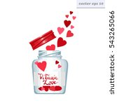 Vector Pink Jar With Flying Ou...