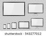 set of realistic tv  lcd  led ... | Shutterstock .eps vector #543277012
