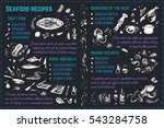 seafood sketches. isolated... | Shutterstock .eps vector #543284758