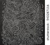 cartoon cute doodles hand drawn ... | Shutterstock .eps vector #543287116