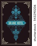 vintage logo template  hotel ... | Shutterstock .eps vector #543290206