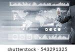 back view of businessman... | Shutterstock . vector #543291325