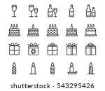 birthday icons. vector...   Shutterstock .eps vector #543295426