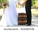 groom and bride with vintage... | Shutterstock . vector #543300748