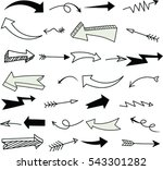 set of arrow doodle   vector... | Shutterstock .eps vector #543301282