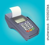 billing machine vector | Shutterstock .eps vector #543302566