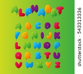 balloon alphabet vector set. | Shutterstock .eps vector #543313336