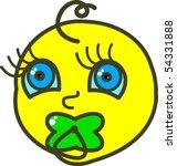 illustration of a baby suckling ... | Shutterstock .eps vector #54331888