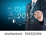 2017 new year business success  ... | Shutterstock . vector #543322456