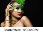 upscale indian woman wearing... | Shutterstock . vector #543328792
