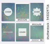 set of business templates for... | Shutterstock .eps vector #543329716