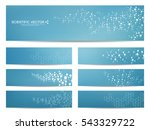 set of modern scientific... | Shutterstock .eps vector #543329722