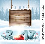 happy new year 2017 background... | Shutterstock .eps vector #543338662