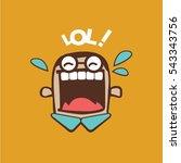 laugh out loud | Shutterstock .eps vector #543343756