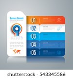 infographic design vector and... | Shutterstock .eps vector #543345586